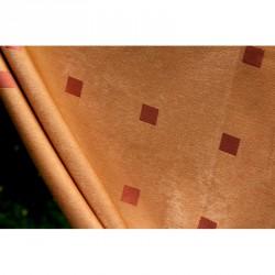Dekorační látka na závěsy LV/6 - pastelová oranžová, metráž