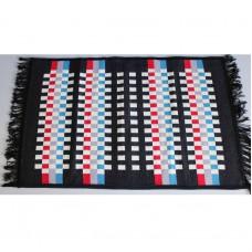 Tkaný koberec Kelim K840A - 80x200cm, černý