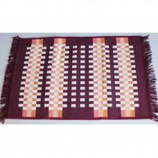 Tkaný koberec Kelim K840C - 80x200cm, vínový