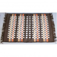 Tkaný koberec Kelim K840D - 80x200cm, hnědý