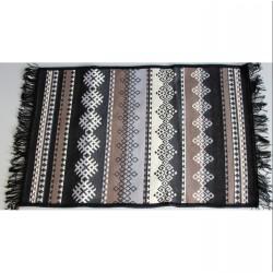 Tkaný koberec Kelim K845A 80x200cm, černý