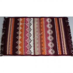 Tkaný koberec Kelim K845C 60x90cm, vínový