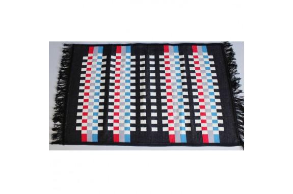 Tkaný koberec Kelim K840A - 60x90cm, černý