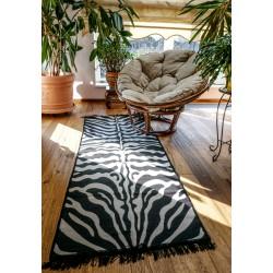 Tkaný koberec Kelim K465 - 80x200cm, zebra