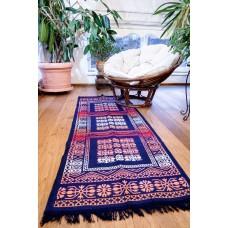 Tkaný koberec Kelim K695A - 80x200cm, modrý