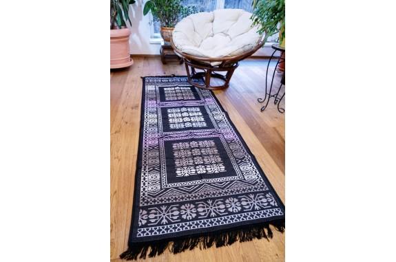 Tkaný koberec Kelim K695F - 80x200 cm, fialový