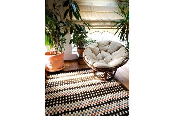 Tkaný koberec Kelim K840D - 160x250cm, hnědý