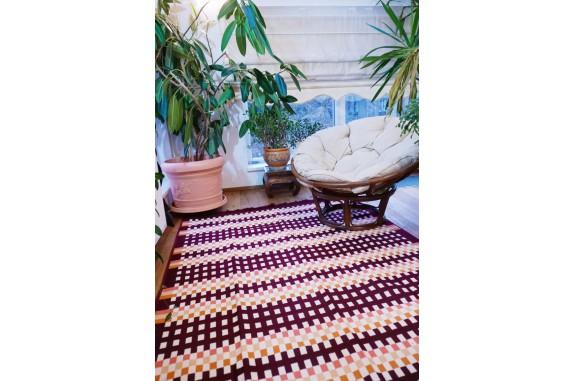Tkaný koberec Kelim K840C - 160x250cm, vínový