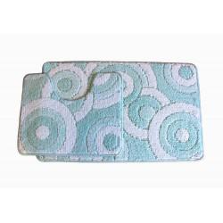 Koupelnová předložka Comfort CLC - tyrkysová -set 2 ks
