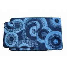 Koupelnová předložka Comfort Classic CLC- modrá - set 2 ks