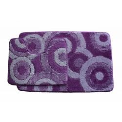 Koupelnová předložka Comfort Classic CLC- fialová - set 2 ks