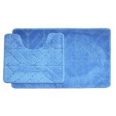 Koupelnová předložka Comfort Classic- modrá - set 2 ks