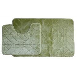 Koupelnová předložka Comfort Classic- zelená - set 2 ks