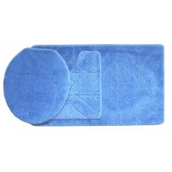 Koupelnová předložka Comfort Classic - modrá - set 3 ks