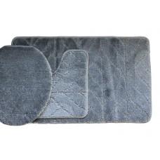 Koupelnová předložka Comfort Classic - šedá - set 3 ks