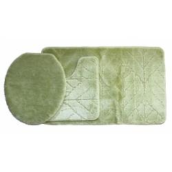 Koupelnová předložka Comfort Classic - zelená - set 3 ks