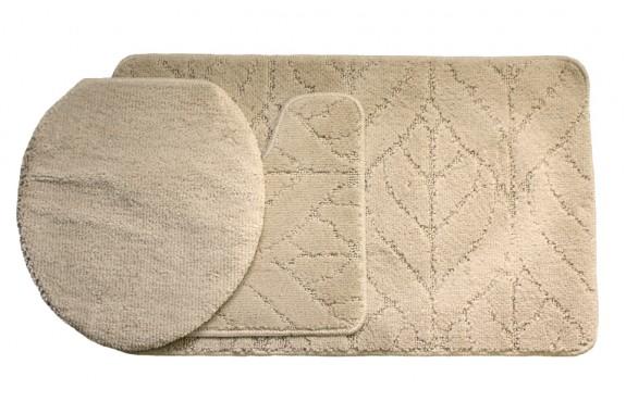 Koupelnová předložka Comfort Classic - béžová - set 3 ks