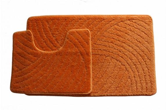 Koupelnová předložka  Classic CTN- oranžová - set 2 ks