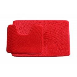 Koupelnová předložka  Classic CTN- červená - set 2 ks
