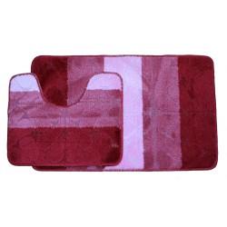 Koupelnová předložka Comfort Gold- červená/růžová, set 2 ks