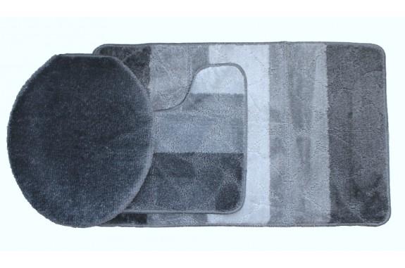 Koupelnová předložka Comfort Gold - šedá - set 3 ks