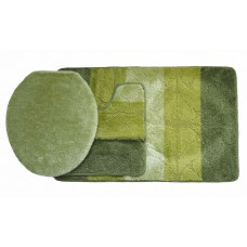 Koupelnová předložka Comfort Gold - zelená - set 3 ks