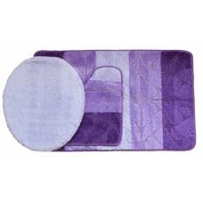 Koupelnová předložka Comfort Gold- fialová - set 3 ks
