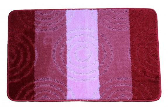 Koupelnová předložka  Comfort Silver 50x80cm- červená/růžová