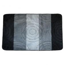 Koupelnová předložka Comfort Silver 50x80cm - šedá/černá