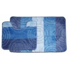 Koupelnová předložka Comfort Silver- modrá -set 2 ks
