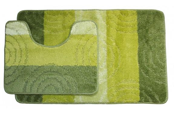 Koupelnová předložka Comfort Silver- zelená - set 2 ks