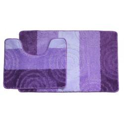 Koupelnová předložka Comfort  Silver - fialová -set 2 ks