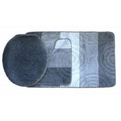 Koupelnová předložka Comfort Silver - šedá - set 3 ks