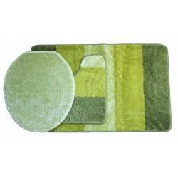 Koupelnová předložka Comfort Silver - zelená - set 3 ks