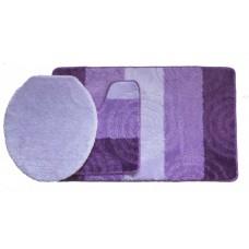 Koupelnová předložka Comfort Silver- fialová - set 3 ks