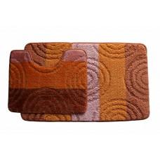 Koupelnová předložka Comfort Silver - oranžová -set 2 ks