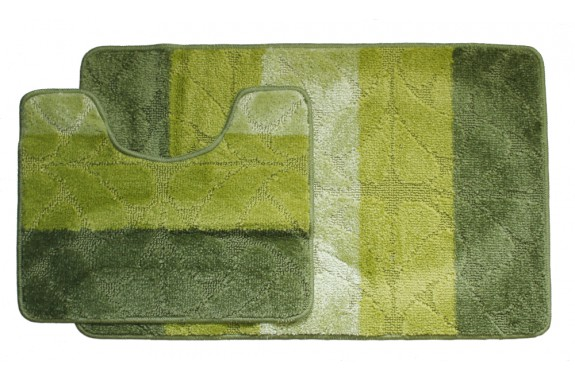 Koupelnová předložka Comfort Gold- zelená - set 2 ks