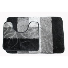 Koupelnová předložka Comfort - černá/šedá -set 2 ks
