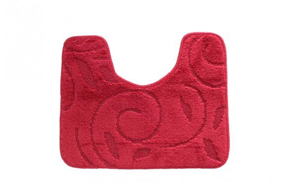 Koupelnová předložka  WC 40x50cm červená, větvička