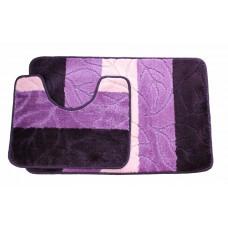 Koupelnová předložka Comfort - fialová -set 2 ks