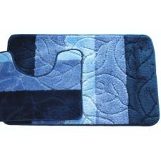 Koupelnová předložka Comfort - modrá -set 2 ks