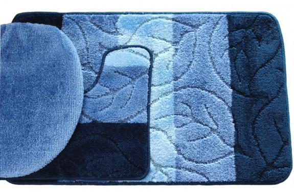 Koupelnová předložka Comfort - modrá - set 3 ks