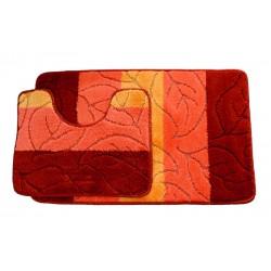 Koupelnová předložka Comfort - oranžová - set 2 ks