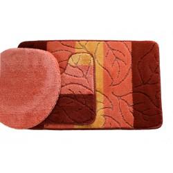 Koupelnová předložka Comfort - oranžová - set 3 ks
