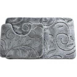 Koupelnová předložka Comfort - šedá, větvička - set 2 ks + dárek