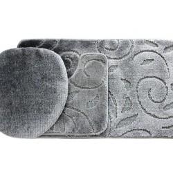 Koupelnová předložka Comfort - šedá, větvička - set 3 ks