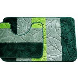 Koupelnová předložka Comfort - zelená - set 2 ks + dárek
