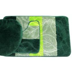 Koupelnová předložka Comfort - zelená - set 3 ks