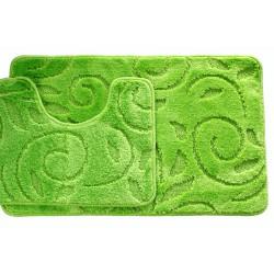 Koupelnová předložka Comfort - zelené jablko, větvička - set 2 ks