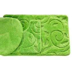 Koupelnová předložka Comfort - zelené jablko, větvička -set 3 ks